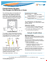 PDF Thumbnail for Carotid Artery Surgery - Your Surgery and Recovery at Home