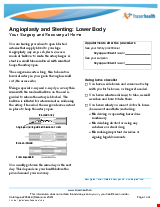 PDF Thumbnail for Angioplasty and Stenting: Lower Body - Your Procedure and Recovery at Home