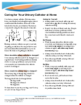 PDF Thumbnail for Caring for your urinary catheter + urinary bag (1 bag system) at home