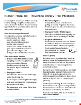 PDF Thumbnail for Kidney Transplant – Preventing Urinary Tract Infections