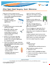 PDF Thumbnail for After Open Heart Surgery: A Quick Reference