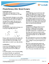 PDF Thumbnail for Physiotherapy After Breast Surgery
