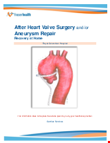 PDF Thumbnail for After Heart Valve Surgery and/or Aneurysm Repair