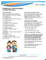 PDF Thumbnail for Stuttering in Young Children: A Guide for Parents