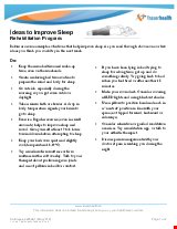 PDF Thumbnail for Ideas to Improve Sleep