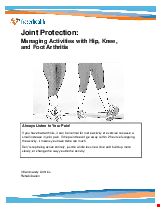 PDF Thumbnail for Joint Protection: Managing Activities with Hip, Knee, and Foot Arthritis