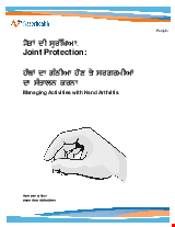PDF Thumbnail for Joint Protection: Managing Activities with Hand Arthritis