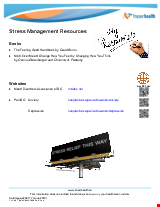 PDF Thumbnail for Stress Management Resources