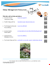 PDF Thumbnail for Sleep Management Resources