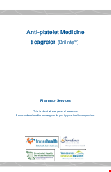 PDF Thumbnail for Anti-Platelet Medicine – ticagrelor (Brilinta®)