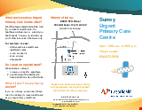 PDF Thumbnail for Surrey Urgent  Primary Care Centre