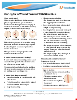 PDF Thumbnail for Caring for a Wound Treated with Skin Glue