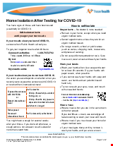 PDF Thumbnail for COVID-19: Home Isolation After Testing for COVID-19