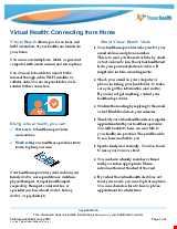 PDF Thumbnail for Virtual Health: Connecting from Home