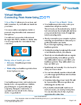 PDF Thumbnail for Virtual Health: Connecting from Home Using ZOOM