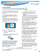PDF Thumbnail for Virtual Health: Connecting from Home Using FaceTime
