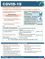 PDF Thumbnail for COVID-19: Self-Isolation Instructions for Health Care and Essential Workers Tested for COVID-19