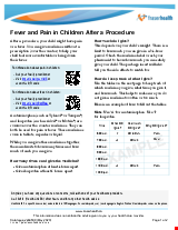 PDF Thumbnail for Fever and Pain in Children After a Procedure