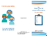 PDF Thumbnail for Our Safety Checklist for Procedure and Operating Rooms For your safety