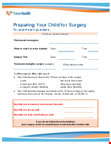 PDF Thumbnail for Preparing Your Child for Surgery - For parents and guardians