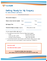 PDF Thumbnail for Getting Ready for My Surgery - For older children and teens