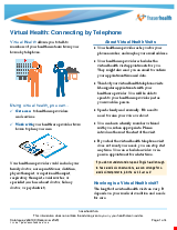 PDF Thumbnail for Virtual Health: Connecting by Telephone