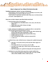 PDF Thumbnail for How to Improve Your Blood Cholesterol Levels - Sehat Program
